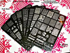 HD Bunny Nails Stamping Plate Review & Close Up HD-A - HD-F BuNa Plates A-B
