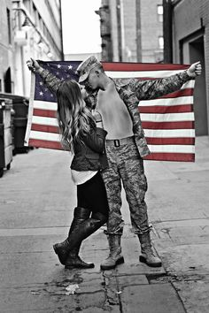 Military couple!!! #adorbs