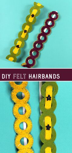 Make a gorgeous but surprisingly easy embroidered accessory with this felt headband tutorial! Get a free SVG template for cutting machines! Felt Headband, Headbands, Felt Diy, Felt Crafts, Headband Tutorial, Diy Fashion Accessories, Blanket Stitch, Love Craft, Wool Felt