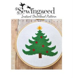 INSTANT DOWNLOAD Christmas Tree Cross Stitch Pattern