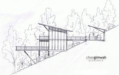 The Deck House,Left Elevation