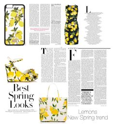 """""""Lemons:New spring trend"""" by alexiaastyle on Polyvore featuring Dolce&Gabbana, Kate Spade, Nicki Minaj, H&M, women's clothing, women's fashion, women, female, woman and misses"""