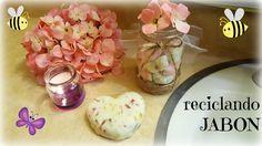 Vero Vi 💋 RECICLANDO JABON + CUTE JAR / frasco decorativo 💜 Glass Vase, Recycling, Soap, Diy, Ideas, Youtube, Home, Paper, Hand Soaps