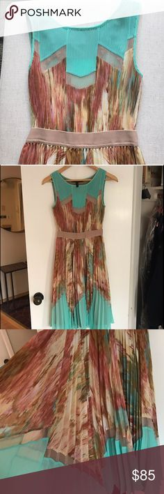 BCBG Accordion Pleated Dress! Pristine condition. Size 0 but would fit a 2/4. BCBGMaxAzria Dresses Midi