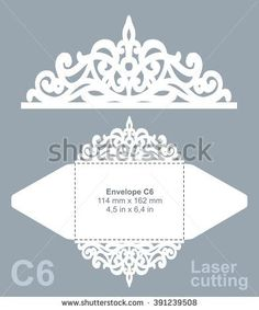 X Wedding Invitation Pocket Envelope Svg Template Quinceanera