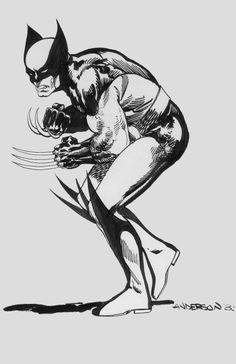 Brent Anderson Wolverine 1983 Comic Art