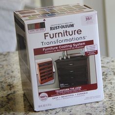 NEW, at Home Depot!    Repaint Furniture with 1 Little Box!!! NO SANDING, PRIMING OR STRIPPING, my kind of redo! :D
