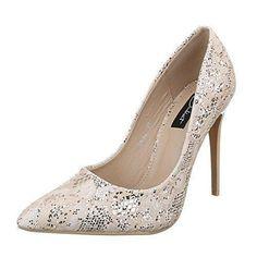 Oferta: 27.45€. Comprar Ofertas de Ital-Design - Zapatos de Tacón Mujer , color Beige, talla 40 barato. ¡Mira las ofertas!