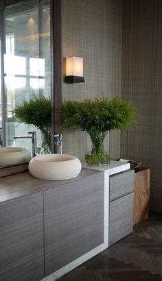 Badezimmer Deko Boder Ideen Badezimmer In Grau Und Weis Mit Pflanze
