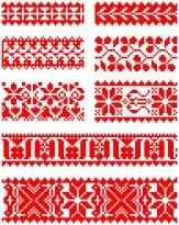 Húngaro Folk Art XIV. Borsod condado bordado de punto de cruz