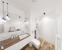 Biała minimalistyczna łazienka - zdjęcie od ALE PRACOWNIA