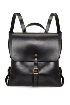 Over Carrying 2 Bags To Work? So Are We... #refinery29  http://www.refinery29.com/best-bags-for-laptops#slide-11  Canvas backpacks are for the grade-school set. This black leather one on the other hand...