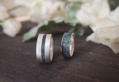 Wedding rings. Silver and wood. Сернбро и дерево. Обручальные кольца.