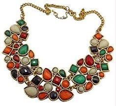 Women Fashion New multicolour Resin Rhinestone Drop Bubble Choker Necklace  http://electmejewellery.com/jewelry/necklaces/y-necklaces/women-fashion-new-multicolour-resin-rhinestone-drop-bubble-choker-necklace-com/
