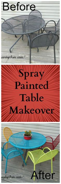 Spray Painted Table Makeover | Saving 4 Six