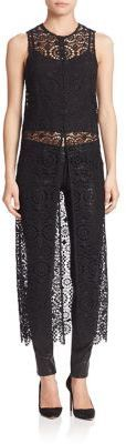 Alice and Olivia Gretchen Lace Overlay Dress