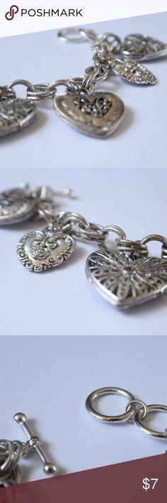 Selling this Silver Heart Charm Bracelet on Poshmark! My username is: lindsayishere. #shopmycloset #poshmark #fashion #shopping #style #forsale #Jewelry