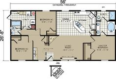 morton building homes | Floor Plans: Redman A526 - Manufactured and Modular Homes