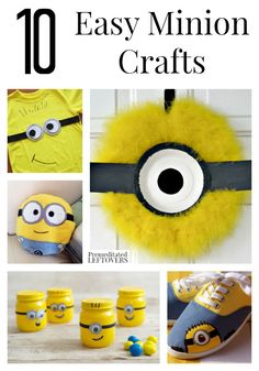 10 Easy Minion Crafts- Check out these easy Minion inspired crafts that are sure to spark some fun! Use them for birthday parties or save for a rainy day.