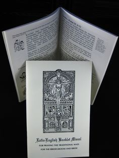YES. English-Latin Booklet missal for praying the traditional Mass for the bridegroom and bride.