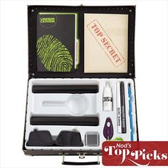 Land of Nod Spy Kit- great gift idea for boys (they also have an awesome selection of mustaches & glasses for disguise :)