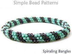 Beaded Bangle Bracelet Tubular Peyote Stitch Pattern