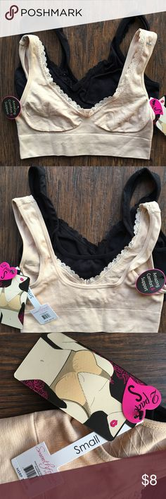 (2) Smooth Form Intimates (black/nude) NWT SIZE Small Smooth Form Intimates & Sleepwear Bras