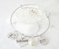 Bridesmaid's Silver Expandable/Adjustable by Foreverafterbeading