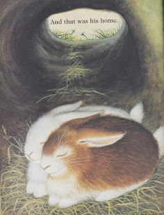 """""""Home for a Bunny"""" by Margaret Wise Brown & Illustrated by Garth Williams  1956"""