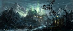 Haunted house by tnounsy on DeviantArt Halloween Haunted Houses, Halloween Art, Happy Halloween, Deviant Art, House Painting Images, House Paintings, Haunted Forest, Winter Art Projects, Fantasy Concept Art