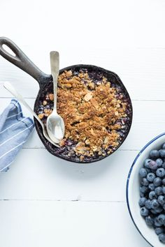 Blueberry Ginger Crumble