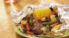 Where's the beef?  It's tucked in a foil packet filled with all kinds of tasty veggies!