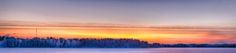 This was the last sight of the sun in 2012. The sun has gone down an hour ago and the last rays of light paint the sky. It was a frosty evening, close to -25 °C. Kuhmo, Kainuu, Finland.