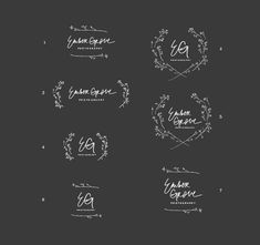 Eva Black identity work.- Also for label/logo like the idea of black with white writing like this. Like the framing of the twigs or stems around the cursive. As long as it's not too feminine..