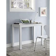 Parsons White Wooden Desk with Chevron Top | Overstock.com Shopping - Great Deals on Altra Desks