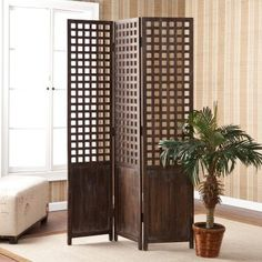 Crowell Room Divider - modern - screens and wall dividers - Hayneedle