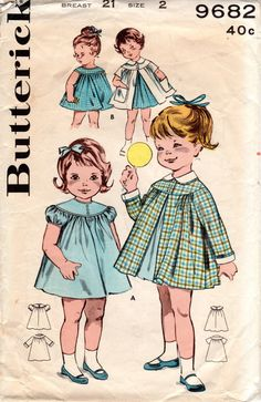 1960s Toddler Girls Coat and Dress Pattern Vintage by ErikawithaK