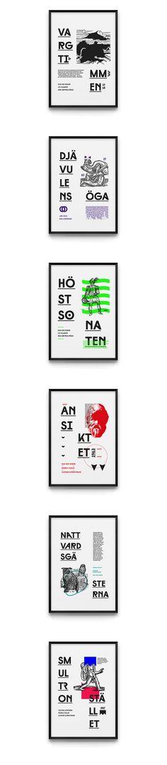 Swedish director Ingmar Bergman - film posters set.