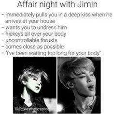 BTS Park Jimin Imagine Affair night 18+