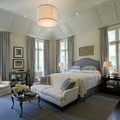 """18 Magnificent Design Ideas For Decorating Master Bedroom...not really design """"ideas"""" but love love this room"""