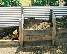 URBAN FOOD GARDEN - Corrugated iron compost bin