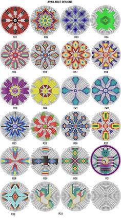Native American Beading Patterns Rosette Kit Fabric Native American Designs to make 25 dia 4 Native American Patterns, Native American Design, Native Design, Native American Crafts, Native Beading Patterns, Beadwork Designs, Seed Bead Patterns, Loom Patterns, Bag Patterns