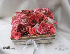 AUTHENTIQUE PAPER...Cute rose box