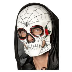 Wilbers Maske Totenkopf Spinne