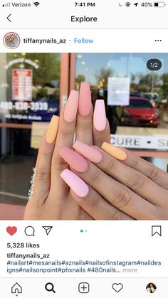 Square Acrylic Nails, Cute Acrylic Nails, Cute Nails, Pretty Nails, Gender Reveal Nails, Beauty Brushes, Nail Envy, Some Girls, Cute Nail Designs
