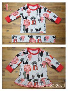 Aus dem Baby-Sweater wird ein Baby-Kleidchen