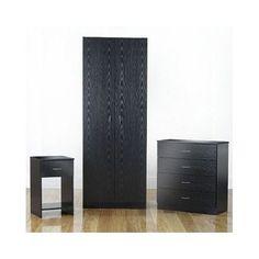 Bedroom Furniture Set Room Wardrobe Drawer Chest Bedside Cabinet Clothes Storage