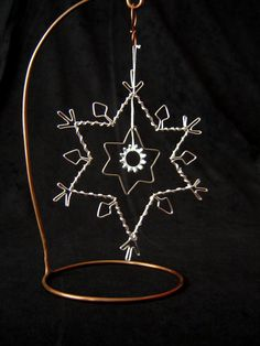 Wire Christmas Ornament - Snowflake