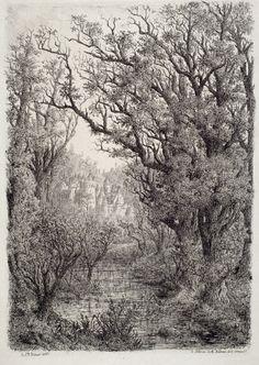 Jean-Baptiste Olivier de Wismes, le château de la Belle au Bois dormant, 1865