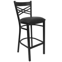 Flash Furniture Hercules Series Black U0027u0027Xu0027u0027 Back Metal Restaurant Bar Stool  With Good Looking